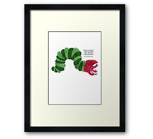 The Very Hungry Graboid Framed Print