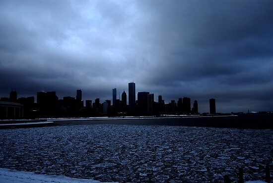 Skyline in Winter by CORA D. MITCHELL