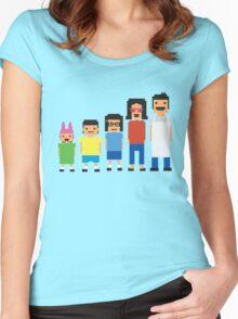 8-Bit Burgers Women's Fitted Scoop T-Shirt