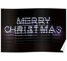 merry christmas - greeting card Poster