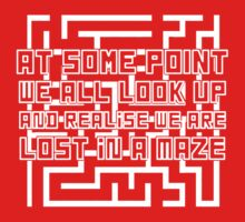 """Lost in a Maze"" Looking for Alaska Quote T-shirt by syrensymphony"