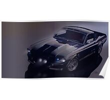 night time Mustang Eleanor Poster