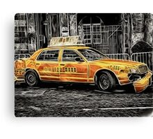 Taxi for Govan Canvas Print