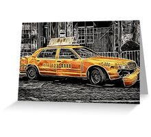Taxi for Govan Greeting Card
