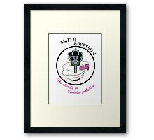 The ultimate in feminine protection Framed Print