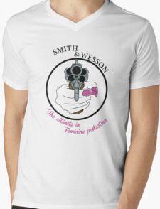 The ultimate in feminine protection Mens V-Neck T-Shirt