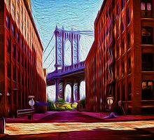 Down under Manhattan Bridge overpass by borstal