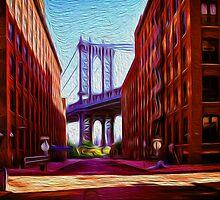 Down under Manhattan Bridge overpass by borstal