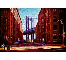 Down under Manhattan Bridge overpass Photographic Print