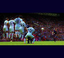 Free kick by Matt Eagles