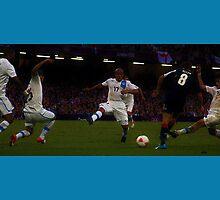Joe Allen- Team GB v Uruguay in Cardiff by Matt Eagles