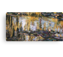 Willow reflections, Monets Garden, Giverny Canvas Print