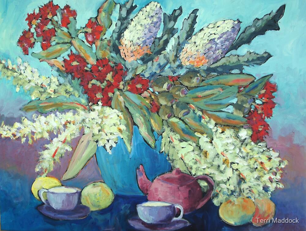 Summer flowers , acrylic by Terri Maddock