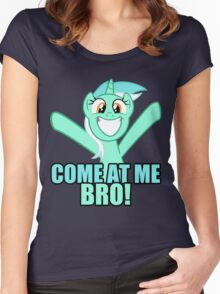 Come at me bro Women's Fitted Scoop T-Shirt
