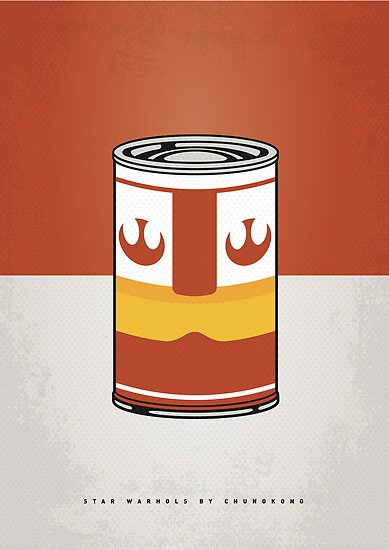 MY STAR WARHOLS LUKE SKYWALKER MINIMAL CAN POSTER by Chungkong