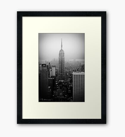 The Empire State Building, New York City Framed Print