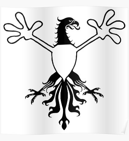 Birds With Arms Coat of arms Poster