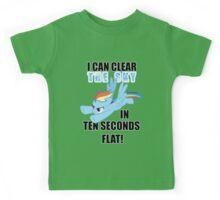 Rainbow Dash - Ten Seconds Flat Kids Tee
