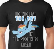 Rainbow Dash - Ten Seconds Flat Unisex T-Shirt