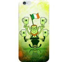Leprechaun Juggling Beers and Irish Flag iPhone Case/Skin