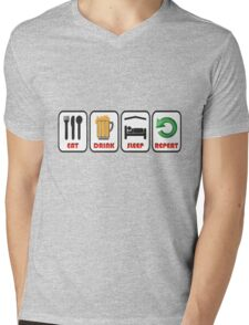 JUST FOR FUN OR STAG OR HEN DO Mens V-Neck T-Shirt