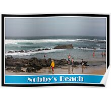 Rockpool Swimmers - Nobby's Beach Poster