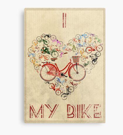 I Love My Bike Metal Print