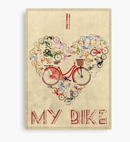 I Love My Bike Canvas Print