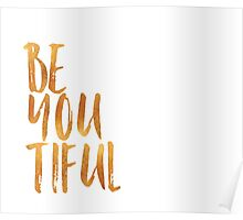 BE-YOU-TIFUL GOLD Poster