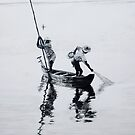 Two men in a boat by sripriya mozumdar