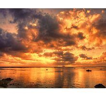 The sky is on fire Photographic Print