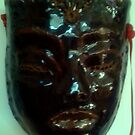 Black Mask... from my hand built, designs. pottery collection by MardiGCalero