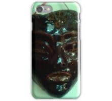 Black Mask... from my hand built, designs. pottery collection iPhone Case/Skin