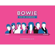 Bowie ch-ch-changes Photographic Print