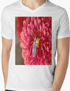 Bug on a flower Mens V-Neck T-Shirt