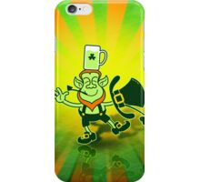 Leprechaun Balancing a Glass of Beer on his Head iPhone Case/Skin