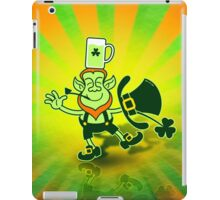 Leprechaun Balancing a Glass of Beer on his Head iPad Case/Skin