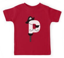 P is for Pirate V2 Kids Tee