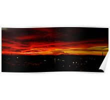 Sunset Over L. A. Poster