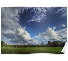Summertime Golfclub Cloudscape Poster