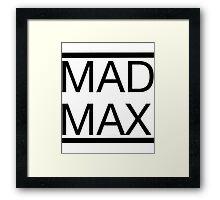Mad Max (Title) Framed Print