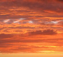 Fiery Sunset by MidnightMelody