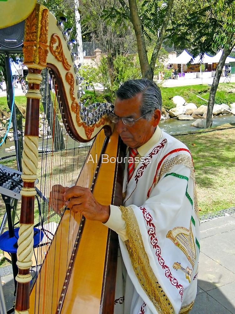 Harpist II by Al Bourassa