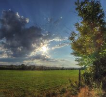 Hayfield Road Cloudscape by Aaron Campbell