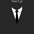 Suit UP - charcoal by Maggie Cellucci