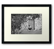 Blind Man and His House Framed Print