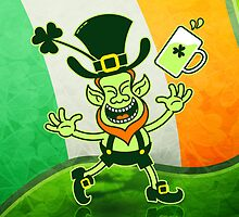 Euphoric Leprechaun Celebrating St Patrick's Day by Zoo-co