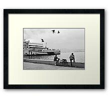 Ferryboat in Karsiyaka Port in Izmir, Turkey Framed Print