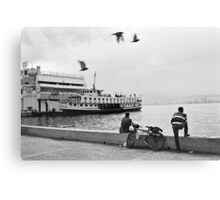 Ferryboat in Karsiyaka Port in Izmir, Turkey Canvas Print