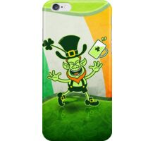 Euphoric Leprechaun Celebrating St Patrick's Day iPhone Case/Skin